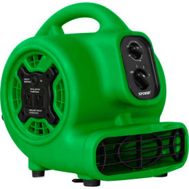 XPOWER Mini Air Mover w/Daisy Chain & 3-Hour Timer, 4 Positions 3 Speeds 1/5 HP - P-230AT-Gr