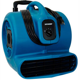 XPOWER Stackable Air Mover W/ Telescopic Handle & Wheels, 3 Speeds 3/4 HP - P-800H
