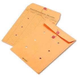 Interoffice Envelopes, Kraft String-Tie, Printed One Side, 10 x 15, 100/Ctn
