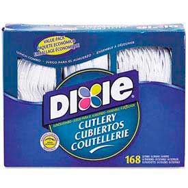 Dixie® DXECM168, Cutlery Combo, Plastic, White, 168/Box