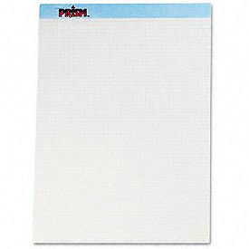 Prism+ Perforated Quadrille Pad, Blue, 5 Sq./Inch, 50 Sheets/Pad, 12 Pads/Pk