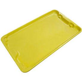 "Molded Fiberglass Tote Lid 780618 - 25-1/4"" x 18"", Yellow - Pkg Qty 6"