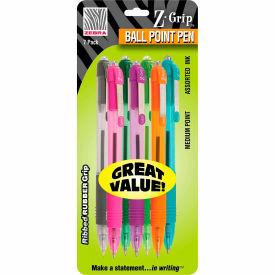 Zebra Z-Grip® Retractable Ballpoint Pen - Assorted Ink - 7 Pack