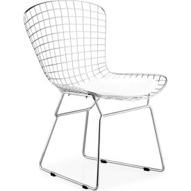 "Zuo Modern Wire Dining Chair, 31-1/2""H, Chromed Steel Frame, Chrome - Pkg Qty 2"