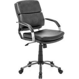 "Zuo Modern Director Relax Office Chair, 38-42""H, Steel Frame, Black"