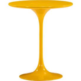 "Zuo Modern Wilco Table, 22-13/16""H, MDF Top, Fiberglass Frame, Yellow"