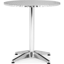 """Zuo Modern Christabel Table, 28""""H, Aluminum Frame, Round"""