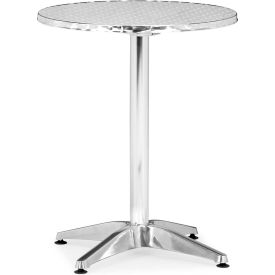 "Zuo Modern Christabel Table, 31""H, Aluminum Frame, Round"