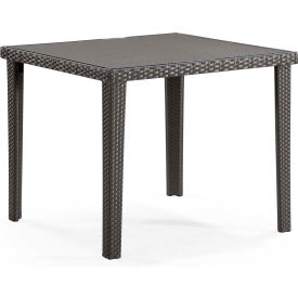 "Zuo Modern Cavendish Table, 30""H, Synthetic Weave Top, Square, Espresso"