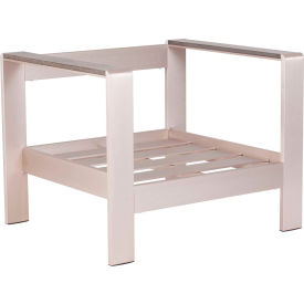 "Zuo Modern Cosmopolitan Armchair Frame, 24-5/8""H, Brushed Aluminum Frame"