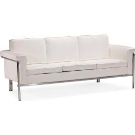 """Zuo Modern Singular Sofa, 32""""H, Chromed Steel Frame, White"""