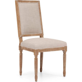 "Zuo Modern Cole Valley Chair, 40""H, Oak Wood Frame, Beige Pkg Count 2 by"