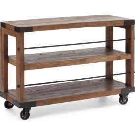 """Zuo Modern Fort Mason Shelf, 32-7/10""""H x 47""""W x 15-7/10""""D, Elm Wood Construction"""
