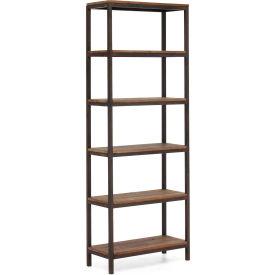 """Zuo Modern Mission Bay Tall 6 Level Shelf, 86-3/5""""H x 31-1/2""""W x 13-4/5""""D, Fir Wood Construction"""