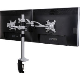 "Fleximounts Dual Arm Desk Mount, for 10""-27"" LCD Monitors"