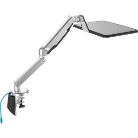 """Loctek Workstation Gas Spring Laptop Mount Stand w/ USB Port, for 10""""-17"""" Laptops"""