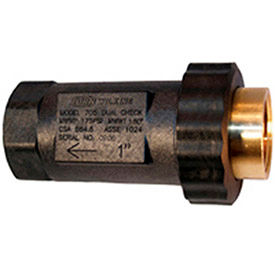 Zurn 1UFX1F-705 1 In. Union FNPT x FNPT Dual Check Valve - 175 PSI - Lead-Free Cast Bronze