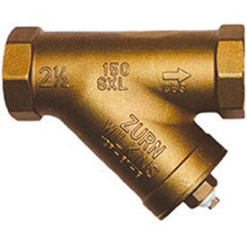 Zurn 2-SXL 2 In. Strainer - FNPT x FNPT - Lead Free Cast Bronze - 20 Mesh Stainless Steel Screen