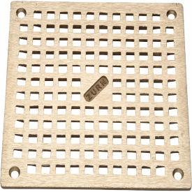 """Zurn 6"""" x 6"""" Square Floor Drain W/Screws, Brass"""