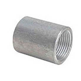 Capitol 11201004 Non-Recessed Straight Tapped Coupling 150# Galvanized Steel - 3/8''