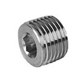 Hex Socket Head Plug 150# Black Steel - 1/2'' - Pkg Qty 100