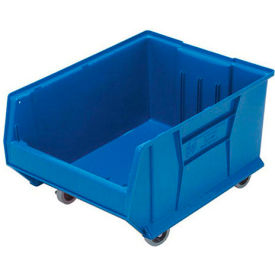 Quantum Mobile Hulk Plastic Stackable Storage Bin QUS965MOB 18-1/4 x 23-7/8 x 12 Blue