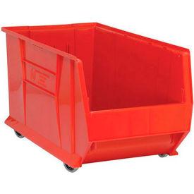 Quantum Mobile Hulk Plastic Stackable Storage Bin QUS986MOB 16-1/2 x 29-7/8 x 15 Red