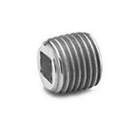 Square Socket Head Plug 150# Black Steel - 1/8'' - Pkg Qty 100