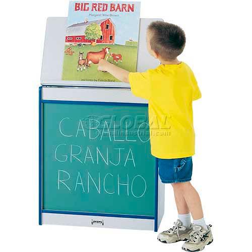 Jonti-Craft Rainbow Accents Big Book Easel Chalkboard Gray Top/Black Edge by