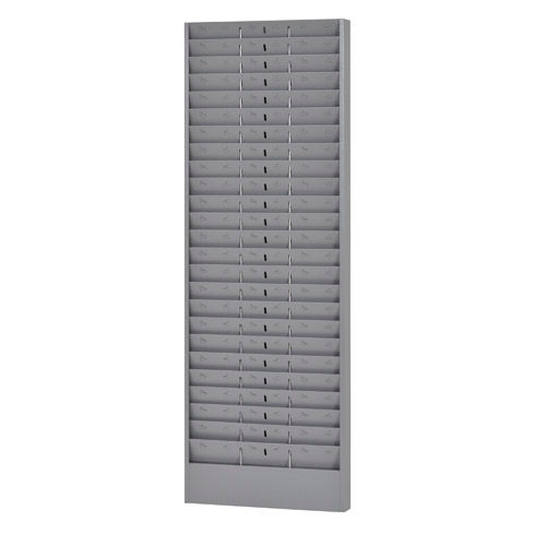 Jumbo Time Card Rack with Adjustable Pockets Grey by