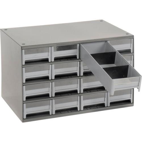 Grey Akro-Mils 19416 16 Drawer Steel Parts Storage Hardware and Craft Cabinet