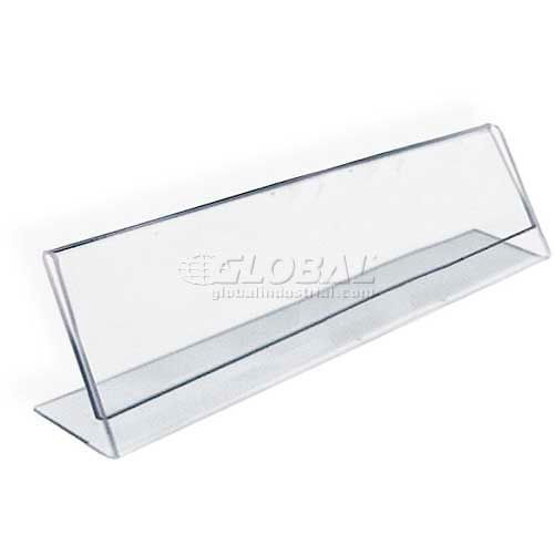 "Azar Displays 112702 Horizontal Nameplate Acrylic Sign Holder, 6"" x 2"" by"