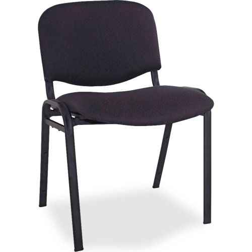 Alera Stacking Chairs Fabric Black 4/Carton Continental Series by