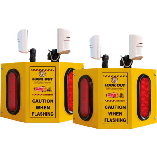 Collision Awareness Overhead Forklift Door Monitor, 2 Boxes, 4 Sensors, 4 Lights, 15' Cord by