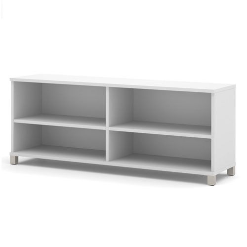 """Bestar Credenza 71"""" White Pro-Linea Series by"""