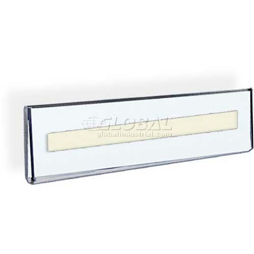 """Click here to buy Azar Displays 122018 Wall Mount Nameplate Sign Holder W/ Adhesive Tape, 8.5"""" x 2.5""""."""