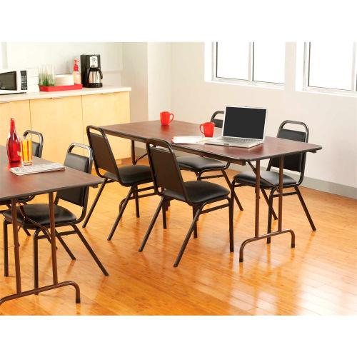 Mahogany 72w x 30d x 29h Alera Wood Folding Table Rectangular