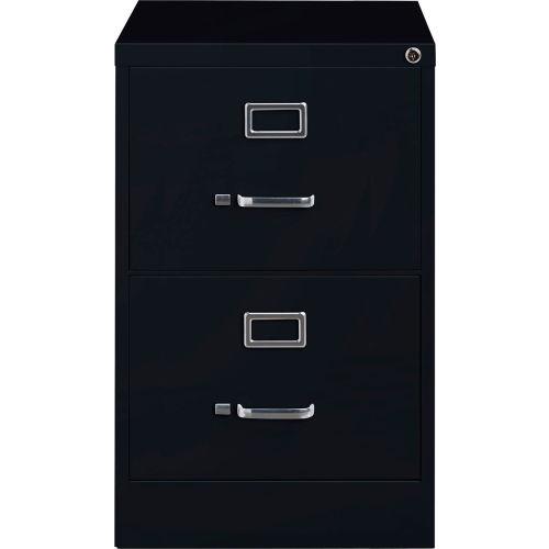Hirsh Industries 25 Deep Vertical File Cabinet 2 Drawer Legal Size Black B691038 Globalindustrial Com