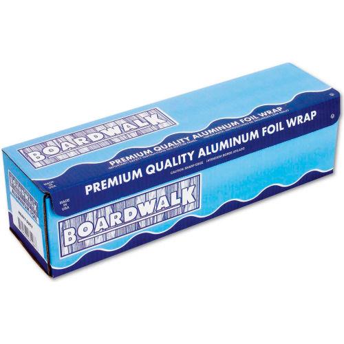 "Boardwalk Heavy-Duty Aluminum Foil Roll, 12"" x 500 Ft., 20 Micron Thickness, Silver by"
