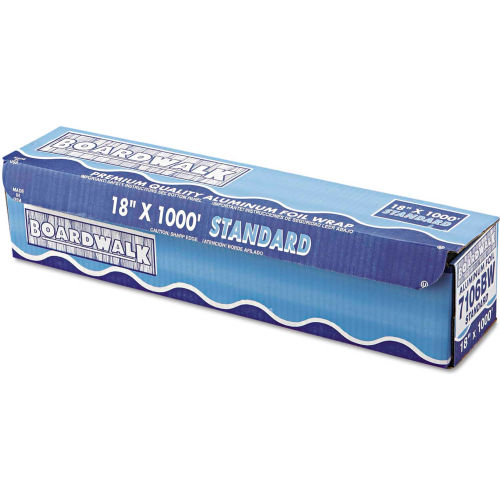 """Boardwalk Standard Aluminum Foil Roll, 18"""" x 1000 Ft., 14 Micron Thickness, Silver by"""