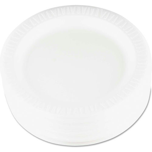 "Dart 9PWQR, Laminated Foam Plate, 9"" Dia., White, 500/Carton  by"