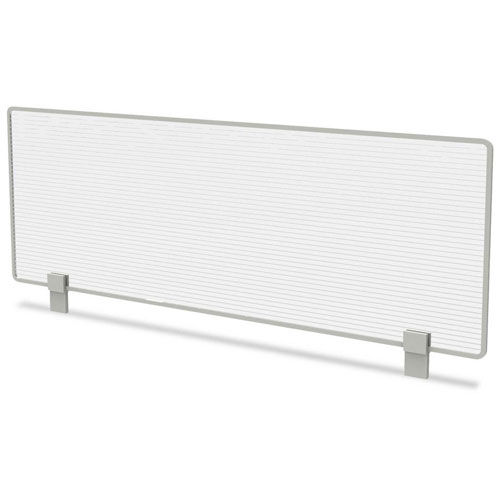 "Linea Italia 47""W Polycarbonate Desktop Partition Privacy Panel, Translucent by"