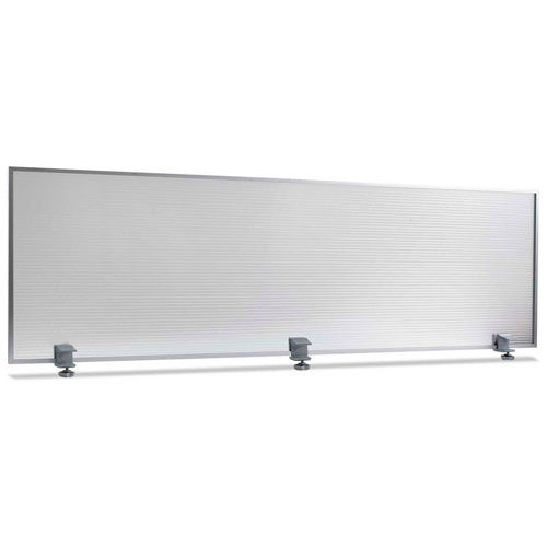 "Alera 65""W Polycarbonate Desktop Partition Privacy Panel, Silver by"