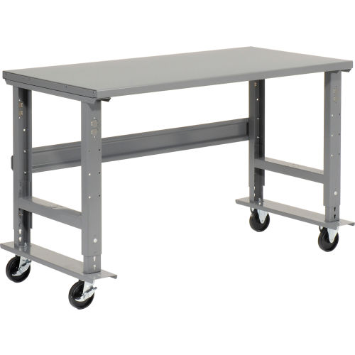Remarkable Mobile Work Bench Adjustable Height 72Quotw X 36Quot Ibusinesslaw Wood Chair Design Ideas Ibusinesslaworg