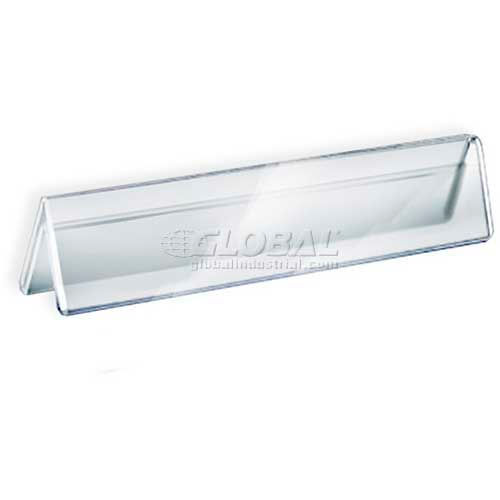"""Click here to buy Azar Displays 192803 Acrylic Two-Sided Nameplate, 11"""" x 2"""", Acrylic."""