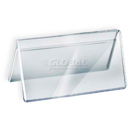 "Click here to buy Azar Displays 192804 Acrylic Two-Sided Nameplate, 6"" x 3"", Acrylic."