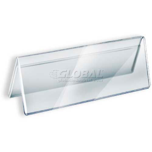 "Click here to buy Azar Displays 192805 Acrylic Two-Sided Nameplate, 8.5"" x 3"", Acrylic."