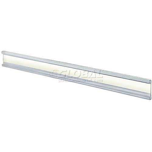 """Click here to buy Azar Displays 199602 Adhesive-Back C-Channel Nameplate, 8.5"""" x 1"""", Acrylic."""