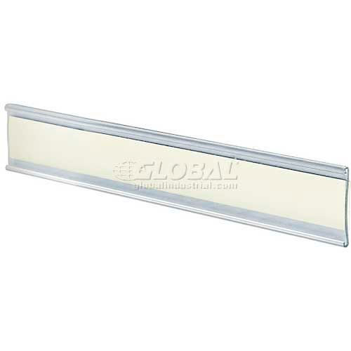 """Click here to buy Azar Displays 199604 Adhesive-Back C-Channel Nameplate, 6"""" x 1.5"""", Acrylic."""