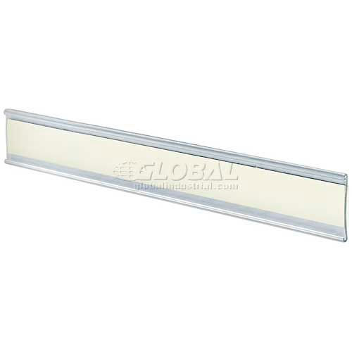 "Click here to buy Azar Displays 199605 Adhesive-Back C-Channel Nameplate, 8.5"" x 1.5"", Acrylic."